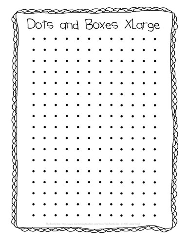 The Puzzle Den Dots and Boxes Freebie - dot paper template