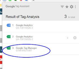 يمكنك تاكد ان مدونتك تعمل بشكل صحيح مع GOOGLE tag من خلال اضافة :Tag Assistant