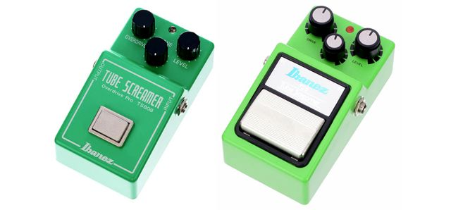 Pedales Overdrive Ibanez Tube Screamer TS808 y TS9