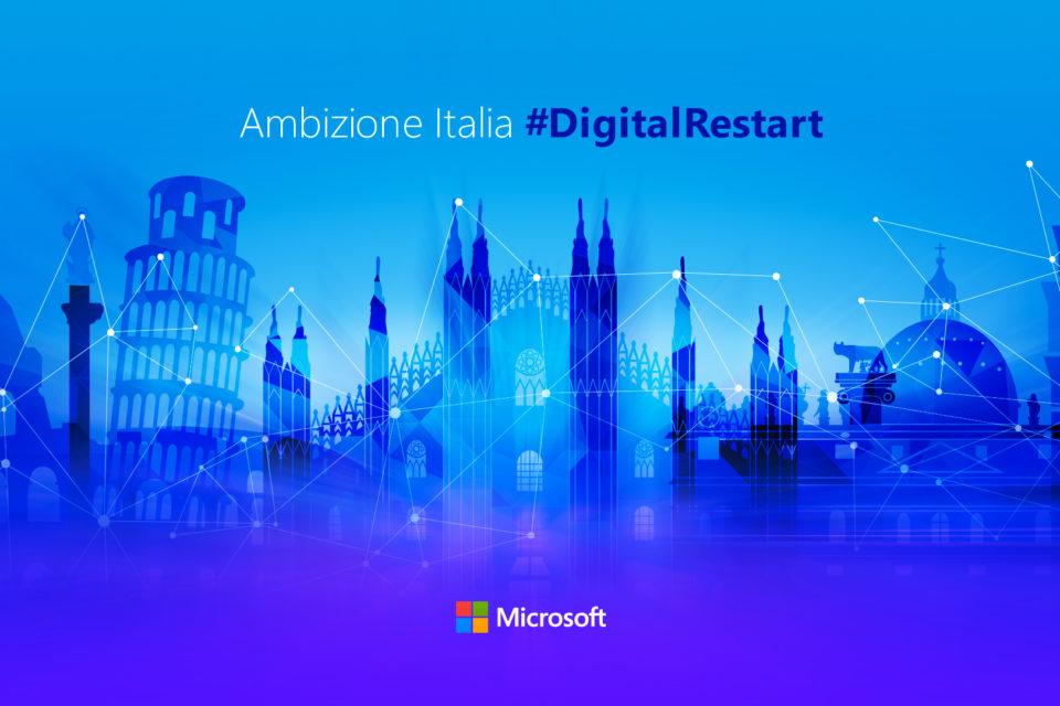 #DigitalRestart | Microsoft investe 1,5 miliardi di dollari in Italia
