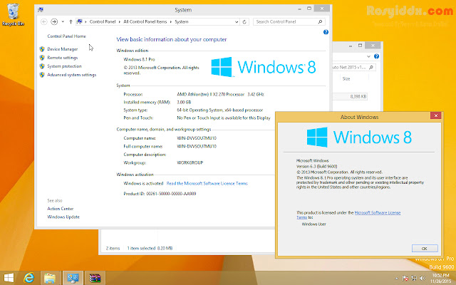 Windows 8.1 Pro Update Terbaru Final Full Version