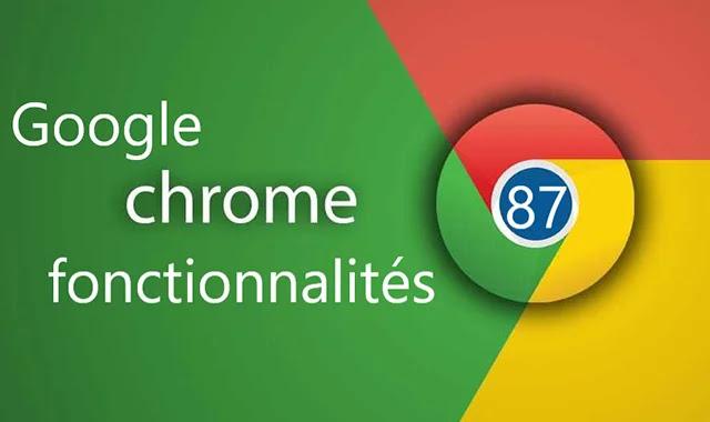 Les nouvelles fonctionnalités et amélioration trouvées dans Chrome OS 87