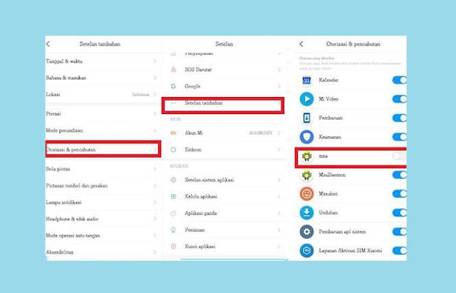 Mematikan MSA Untuk Menghilangkan Iklan di HP Xiaomi