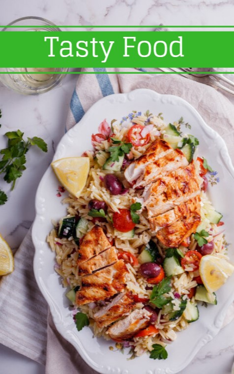 Hellenic Orzo Salad With Grilled Chicken
