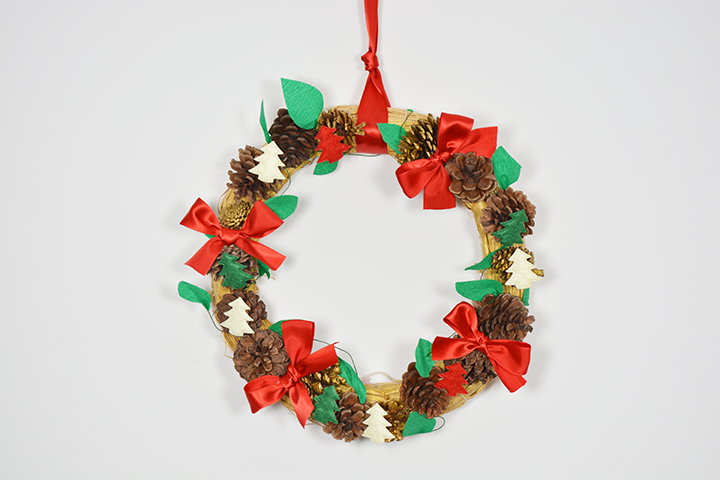DIY Couronne de Noël facile