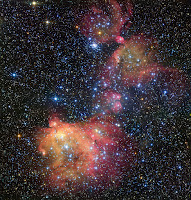 gas cloud LHA 120-N55 in the Large Magellanic Cloud