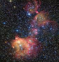 gas cloud LHA 120-N55 in the Large Magellanic Cloud