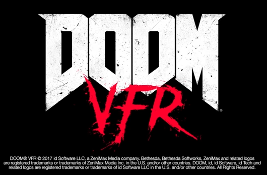 DOOM VFR Virtual Fucking Reality title logo iD Software Bethesda