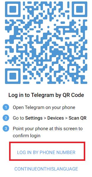 Cách 2: Đăng nhập Telegram web bằng số điện thoại b