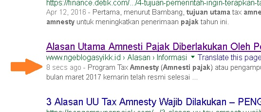 fast time article index google search engine NGEBLOG ASYIKK