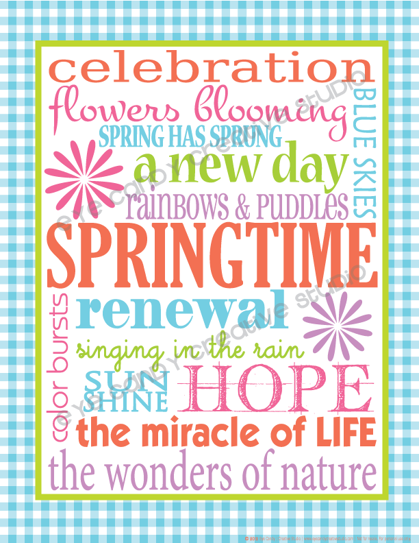 springtime, free subway art, spring subway art, spring has sprung, bright colors