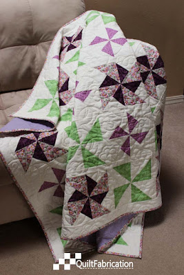 Purple Pinwheels quilt