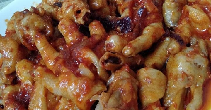 resepi enak kaki ayam goreng berlada  dapur kak tie Resepi Ayam Masak Merah Berempah Enak dan Mudah