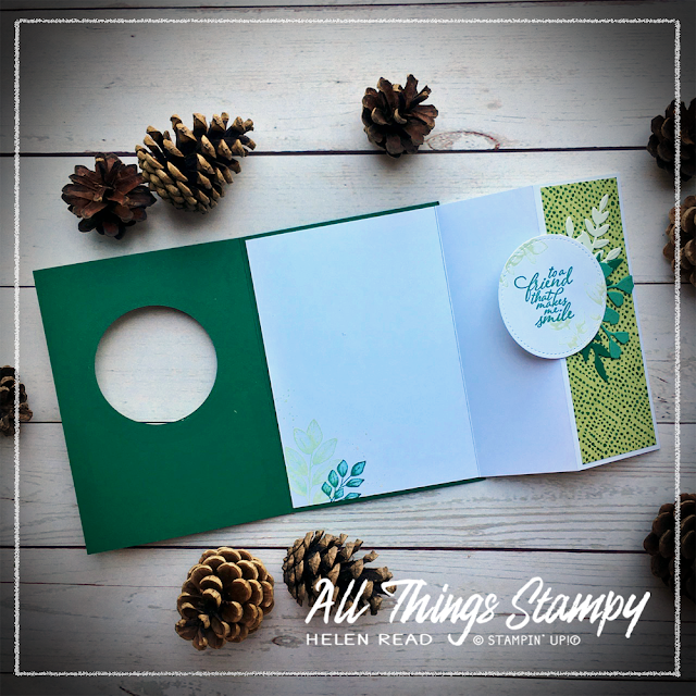 Fancy fold Forever Greenery Stampin Up Allthingsstampy