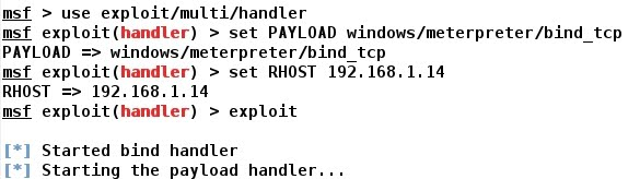 Whitelist: METASPLOIT - Windows 7 - Bind TCP Shell