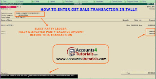 how to enter gst sales entry in tally
