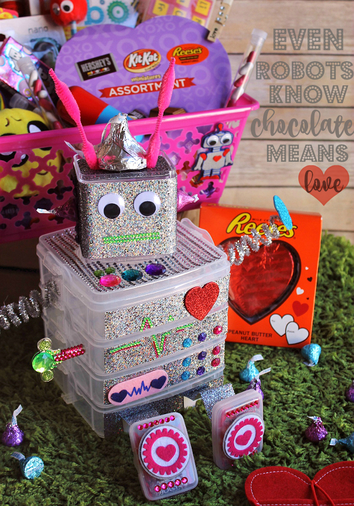 Momma Told Me D I Y Robot Chocolate Box Valentine S Gift Basket