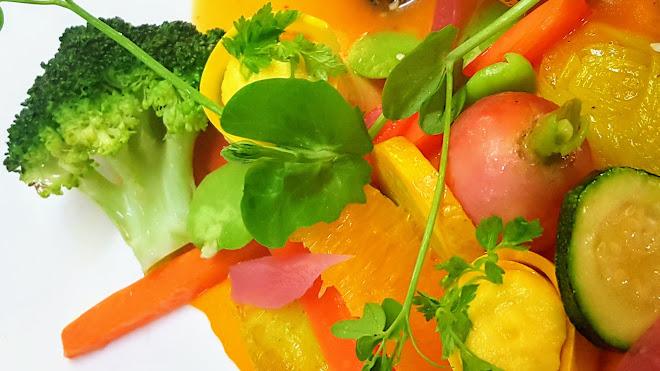Légumes cuits à l'anglaise et liés au beurre