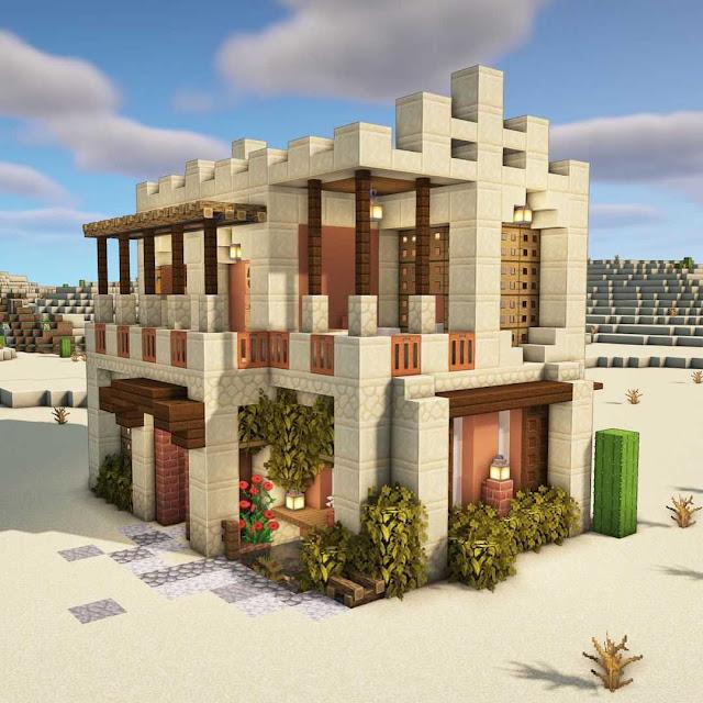 Minecraft Village Library Design