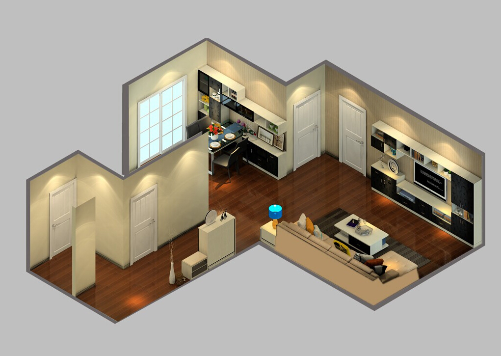 Modern-home-interior-design-sky-view 35 Sky View 4D American House Plan Styles Interior