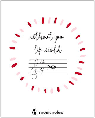 music printable valentines @michellepaigeblogs.com