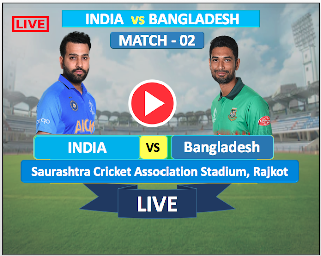 Watch Live Match India  vs  Bangladesh - 2nd T20 match 7 NOV,  Bangladesh  Tour of India 2019