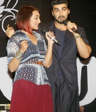 Sonakshi Sinha and Arjun atMitthibai college for promotions of tevar movie