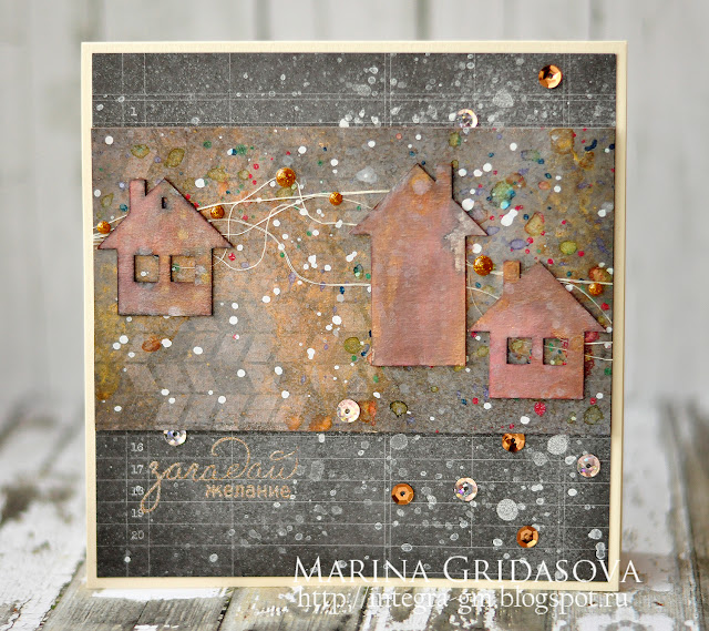 holiday card for Colorful World @akonitt #card #holidaycard #by_marina_gridasova