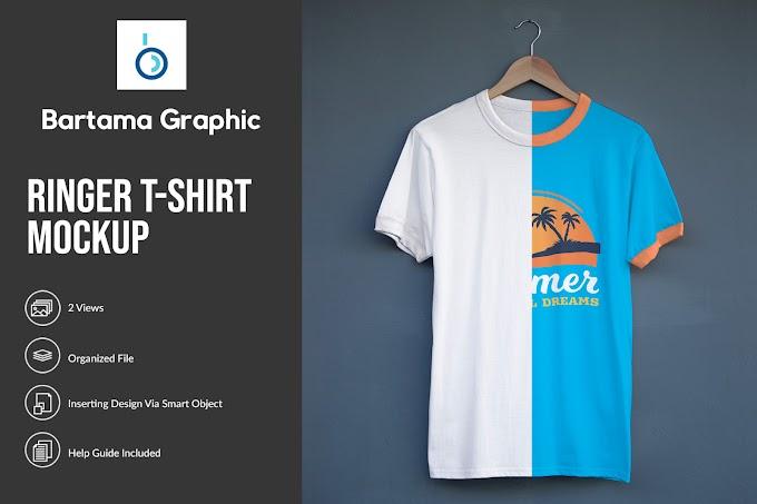 Ringer T-Shirt Mockup