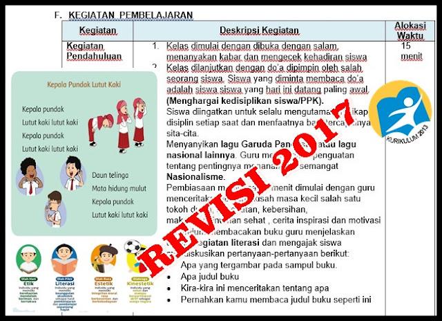 RPP Kelas Kurikulum 2013 Revisi 2017 Dilengkapi PPK, Literasi dan HOTS