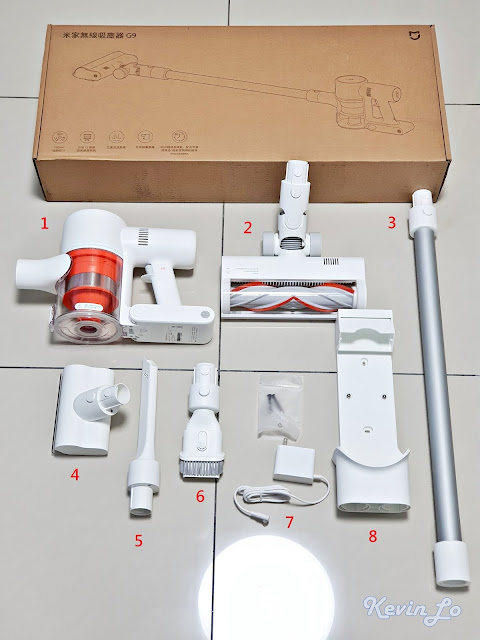 【MI 小米】米家無線吸塵器 G9 (白色) 開箱_配件清單