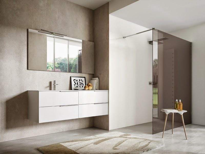 Modernos móveis de casa de banho em branco ~ Decoraç u00e3o e Ideias # Decoração De Casas De Banho Em Azul