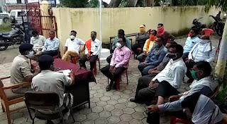 त्यौहारों को लेकर शांति समिति की हुई बैठक