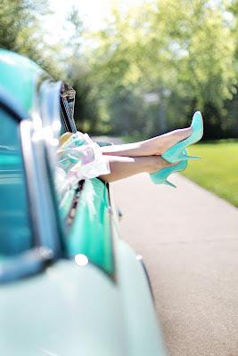Zapatos de salón en color azul