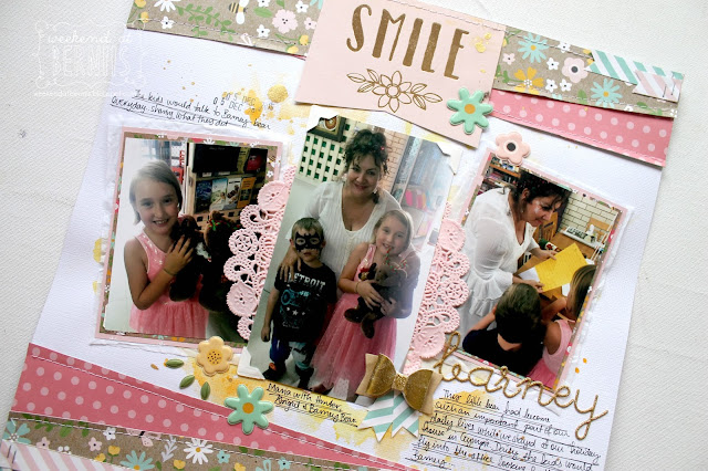 """Smile"" layout by Bernii Miller using the Spring Fling collection by Pebbles for Scrapping Clearly."