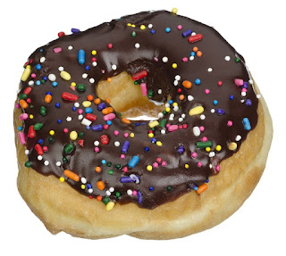 Raised Donut with Chocolate Frosting and Sprinkles