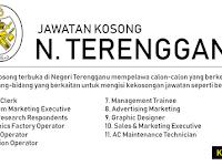 Jawatan Kosong di Negeri Terengganu - Gaji RM1,000 - RM5,000