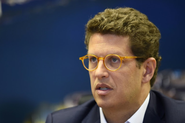 O Ministro do Meio Ambiente, Ricardo Salles (Crédito: AFP)