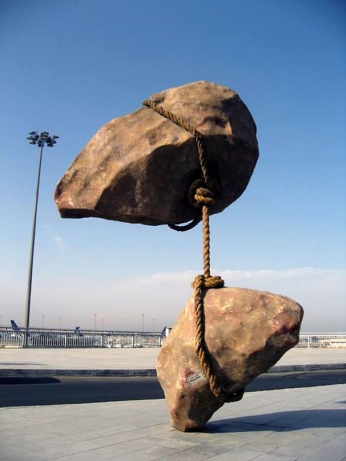 Flying stones sculpture, Cairo
