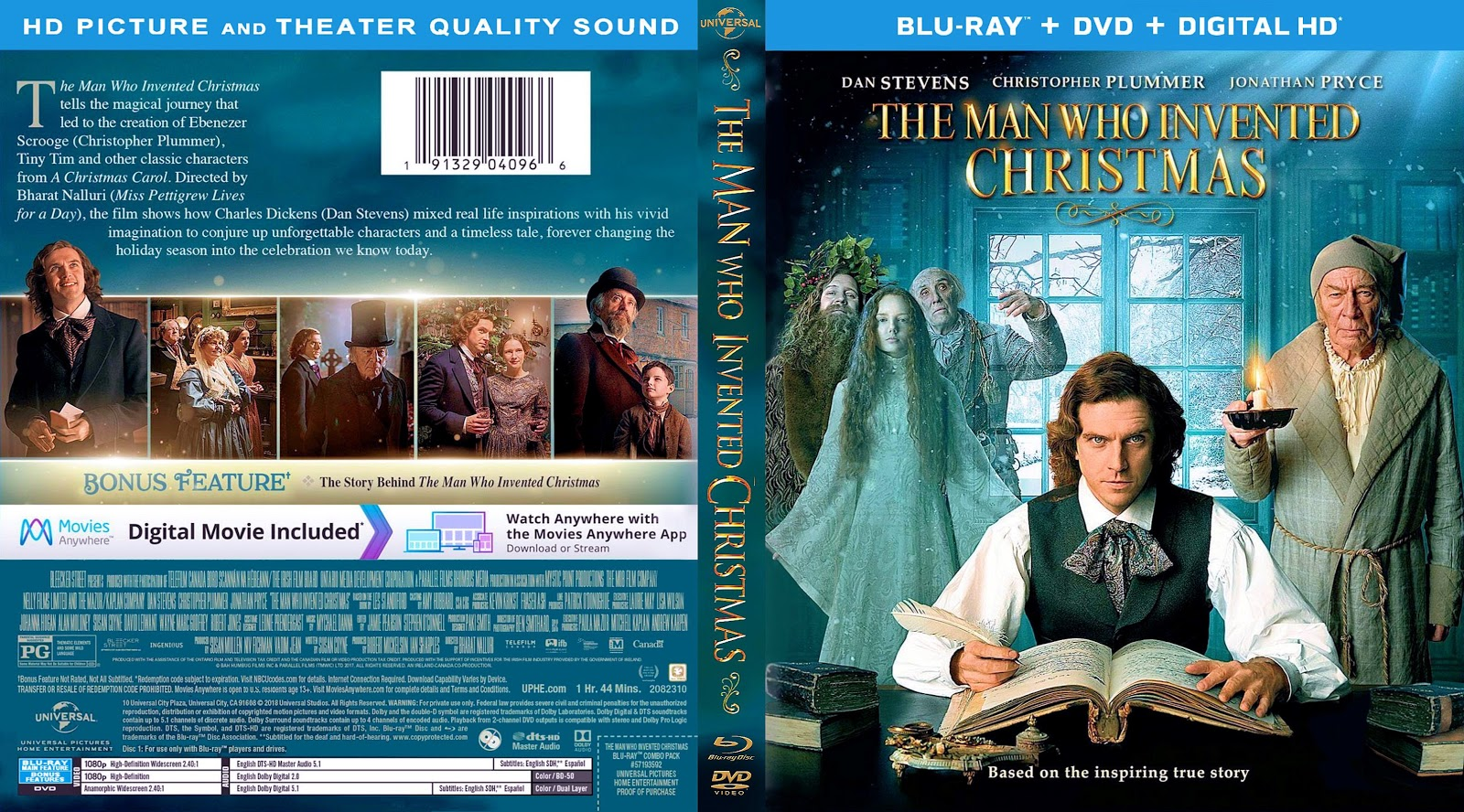 The Man Who Invented Christmas Poster.The Man Who Invented Christmas Bluray Dvd Cover Cover
