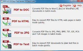 تحميل برنامج PDF to X لتحويل ملفات PDF الى أي صيغة تريدها
