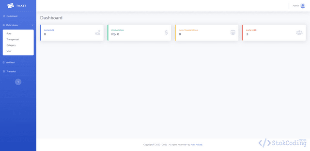 Aplikasi Pemesanan Tiket Berbasis Web (Laravel)