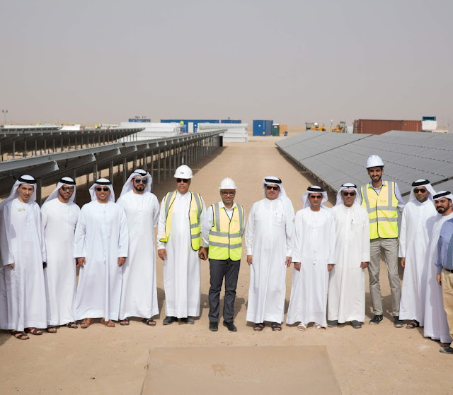 HE Saeed Mohammed Al Tayer, MD & CEO of DEWA visits Mohammed bin Rashid Al Maktoum Solar Park to follow up with project implementation