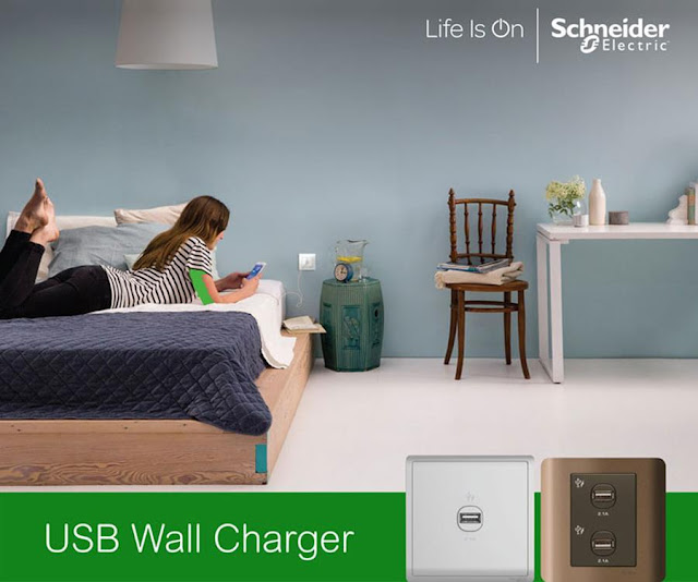 USB wall charger by schneider