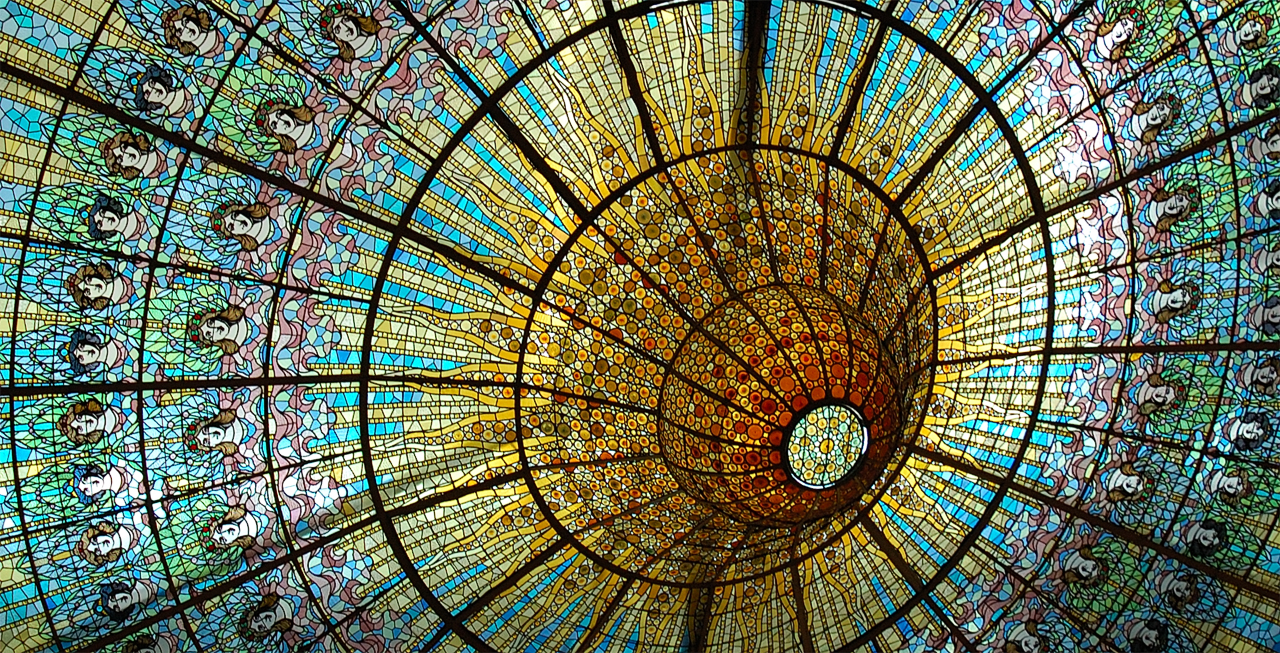 Catalan Modernisme: Stained Glass Ceiling at Palau de la Música