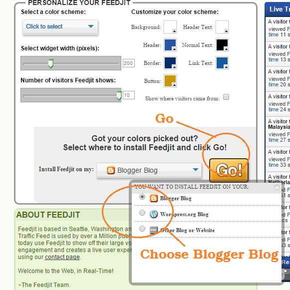 FEEDJIT Widget for Blogger.