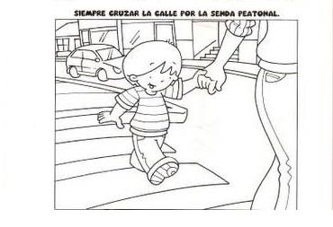 Dibujos Educacion Vial Para Colorear Dibujos Para Niños