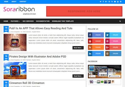 Sora Ribbon Premium Version Blogger Template