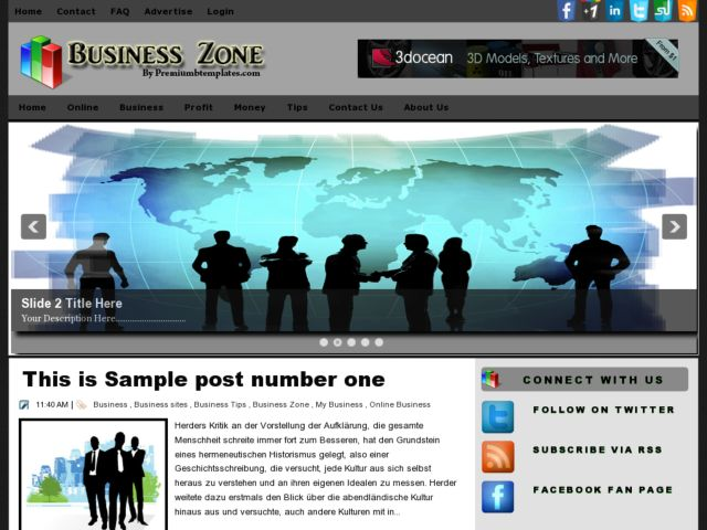 Business Zone Blogger Template