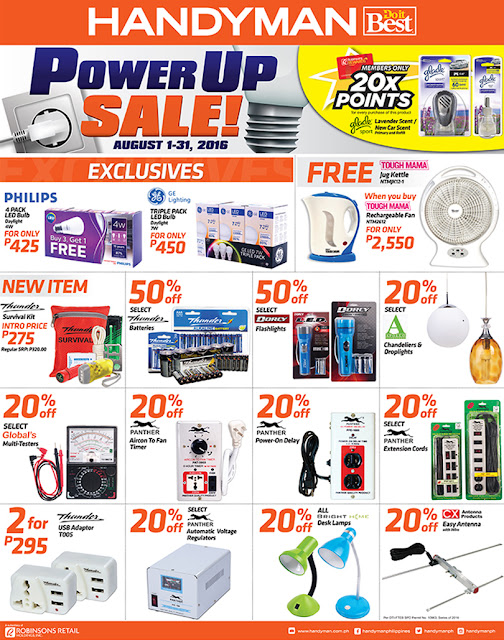 Handyman Power Up SALE, Philippines sale, Philippine promo